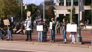 Occupy Moncton Protesters City Hall