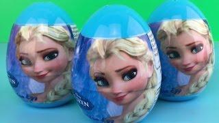 迪士尼冰雪奇缘爱莎公主奇趣蛋拆玩具