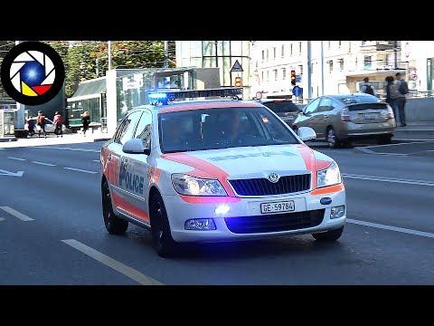 Police en Urgence à Genève // Swiss Police Car Responding