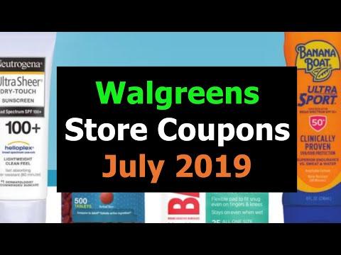 Walgreens JULY Store Coupons