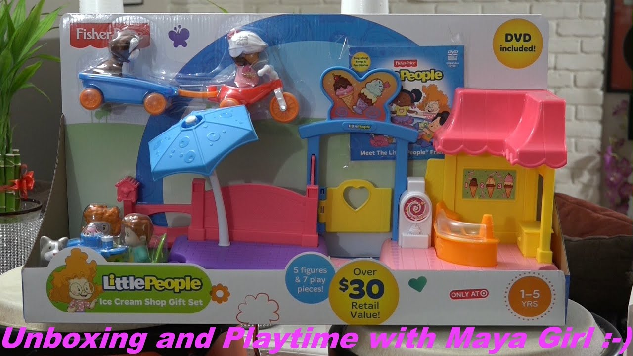 Toys for Little Girls Fisher Price Little People Ice Cream Shop