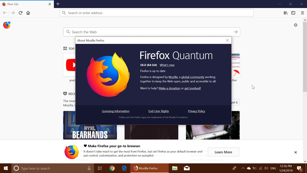Fixit Firefox Quantum Version 58 is now available whats new