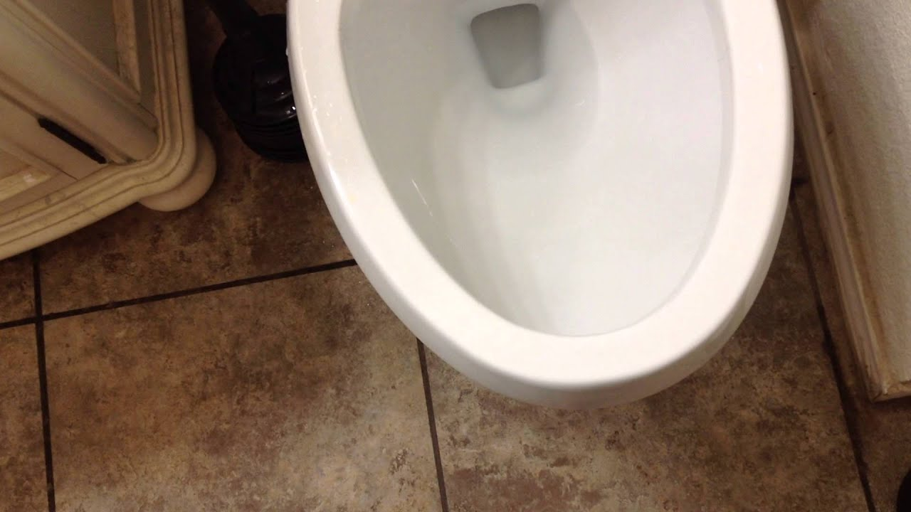 my toilet is not flushing well ohh now it is