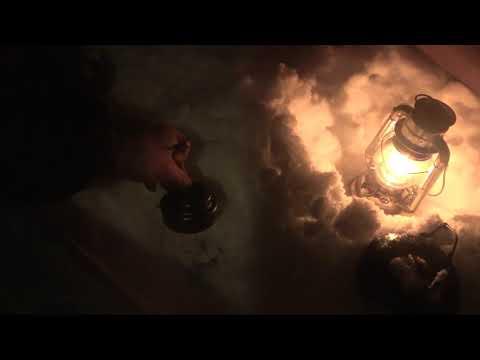 winter camping 焚き火でステーキ 自然の音に癒された雪中キャンプ