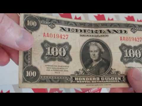 Coin Collecting Episode 118 - RARE Bank Note Netherlands 100 Gulden State Note #coinsofcanada #coins