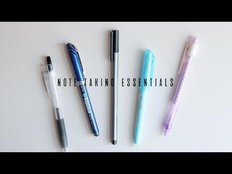 note taking essentials