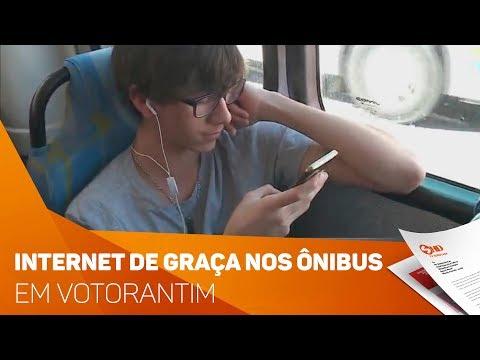 Internet de graça em ônibus de Votorantim - TV SOROCABA/SBT