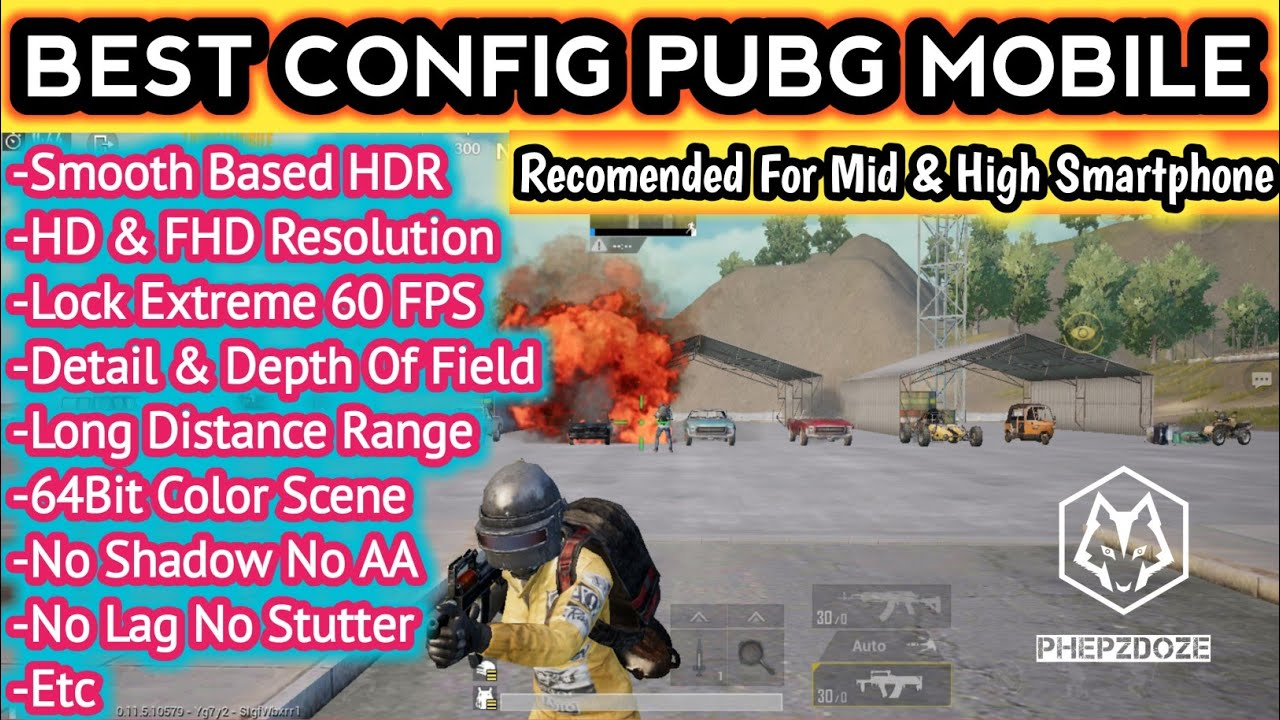 BEST CONFIG PUBG Mobile 0 12 0 MID & HIGH ANDROID SMARTPHONE