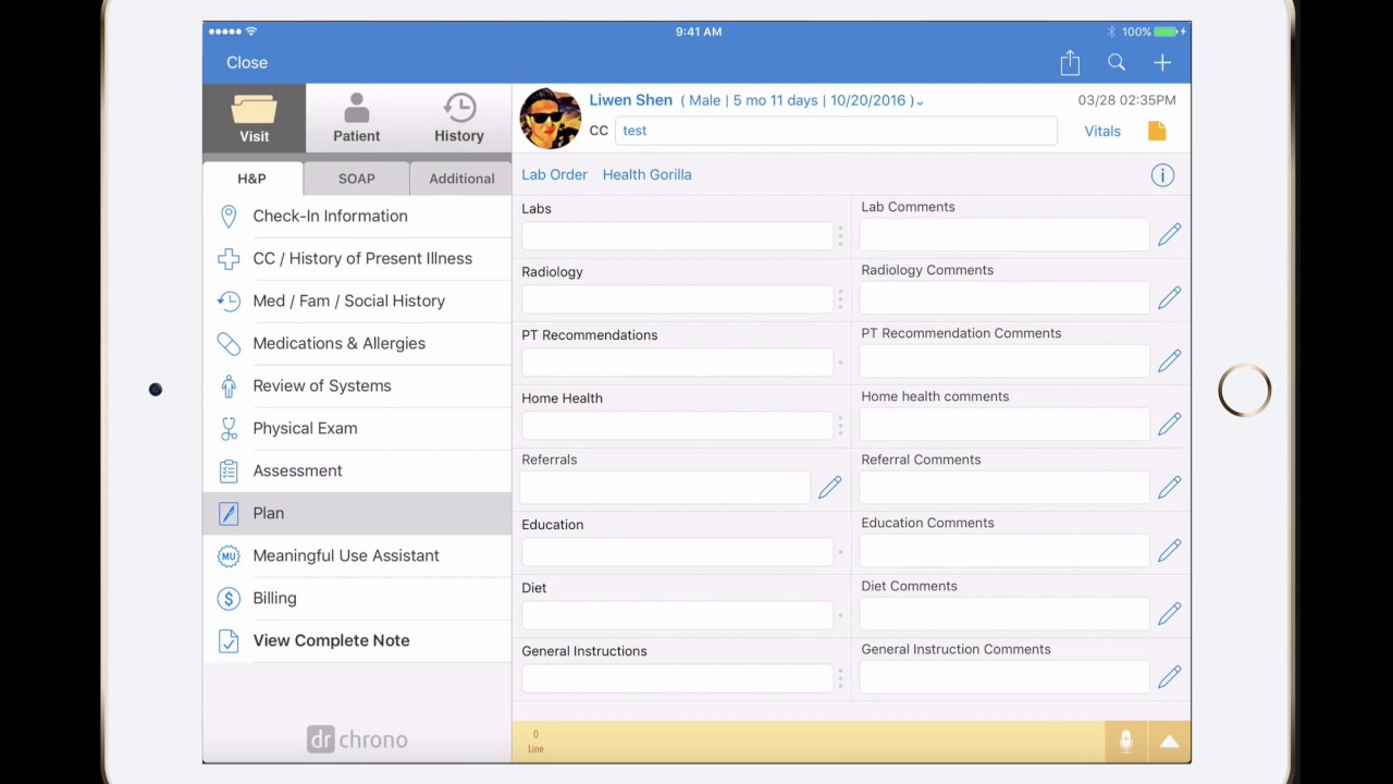 Tutorial: One-minute lab orders via iPad // drchrono EHR