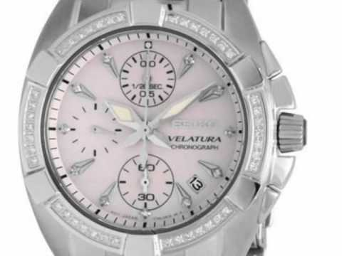 a44673b4833f Diamond Chronograph Deal - Seiko Velatura Ladies Watch SNDZ37P1 - YouTube