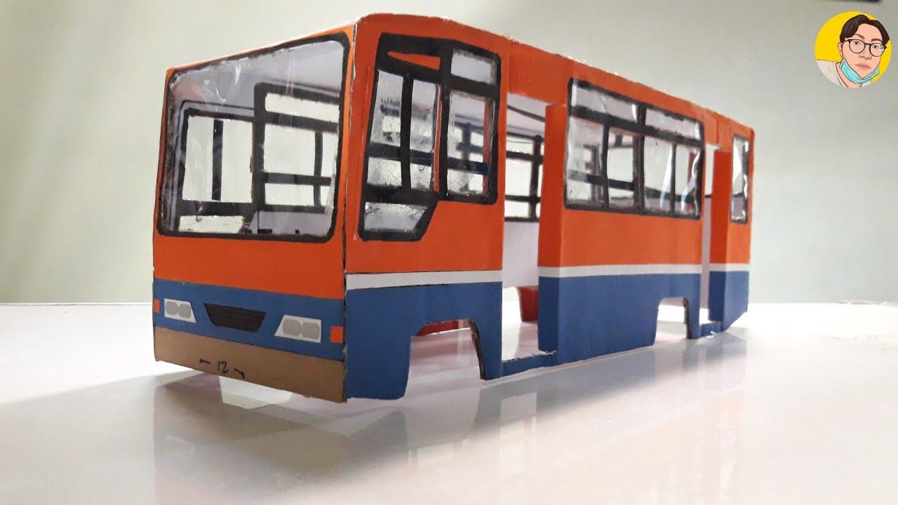 Cara membuat miniatur bus Metromini dari kardus bekas ...