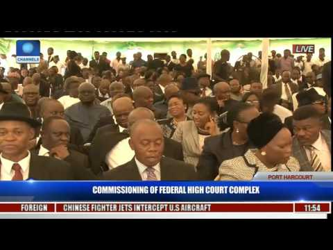 Commissioning Of Federal High Court Complex Pt. 8