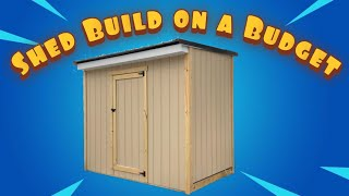 Storage Shed for Cheap! | Start to Finish Build