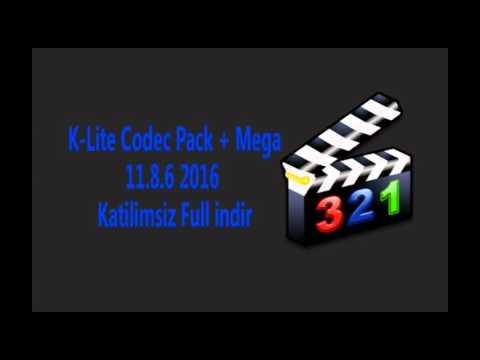 K Lite Codec Pack + Mega 11 8 6 2016 Katilimsiz Full indir