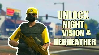 GTA 5 Online How To Unlock Rebreather & Night Vision Without Heist