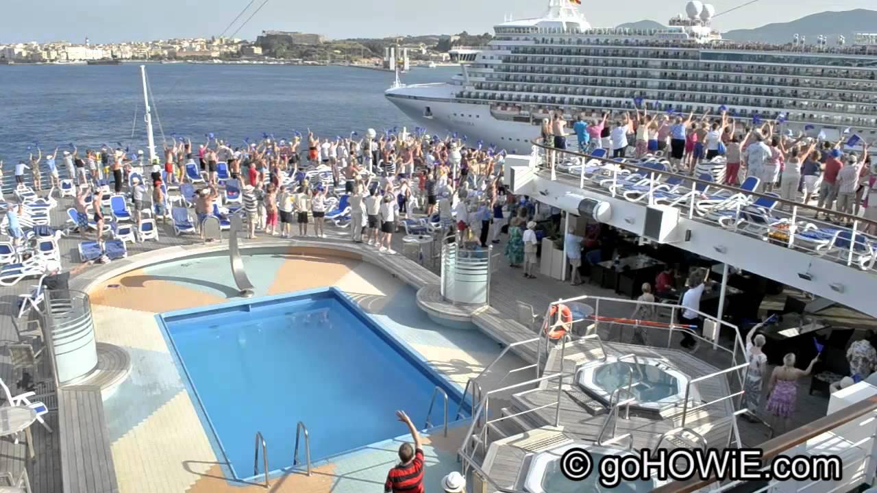 PO Cruise Liners Arcadia And Ventura At Corfu YouTube - P and o cruises ships