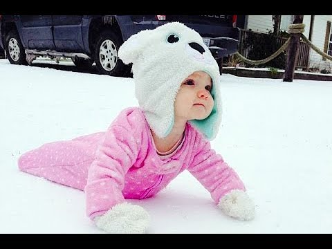 Cute Babies Discovering Snow For the First Time - Hilarious Reactions  Compilation
