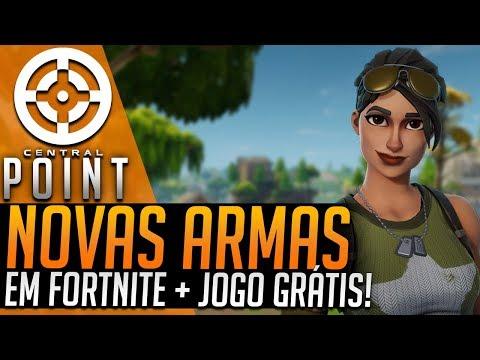 NOVA ARMA EM FORTNITE E GAME DE GRAÇA SÓ HOJE - CENTRAL POINT