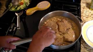Veal Loin Chops With Herbs And Cream