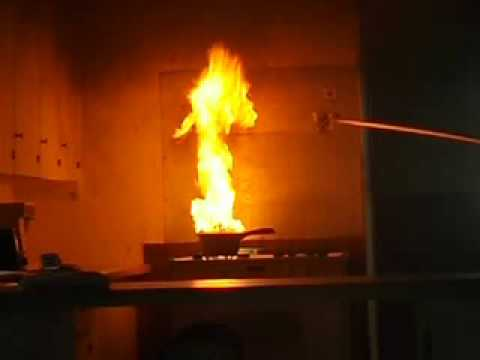 how to stop a grease fire