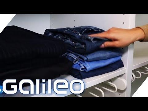So Faltet Man Klamotten Am Platzsparendsten   Galileo   ProSieben