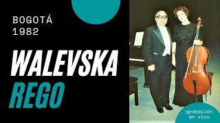 Christine Walevska y Manuel Rego / Recital Bogotá 1982 / Beethoven - Brahms - Chopin