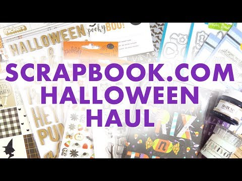 HALLOWEEN HAUL // Scrapbook.com Crafty Haul (and a few other things!)
