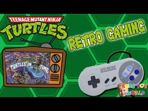 Super Nintendo RETRO GAMING REACTION Teenage Mutant Ninja Turtles 4 FULL gameplay Buds Toy World