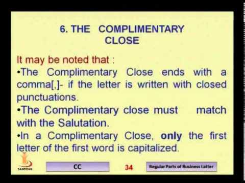 main parts of a business letter - Main Parts Of Business Letter