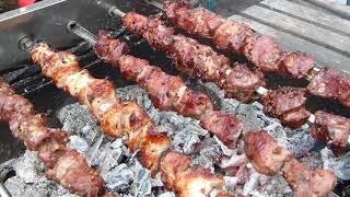 Ленивый шашлычник/Три вида мяса/Шампуры самокруты