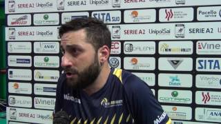 25-04-2017: #A2MVolley - Cavaccini nel post gara5 semi New Mater-Bergamo 3-1
