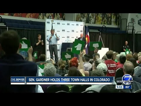 Sen. Cory Gardner holds raucous town halls in Colorado