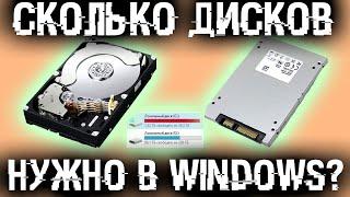 Сколько дисков нужно в Windows? Что делать если диск один? Стоит ли ставить Windows на диск D?