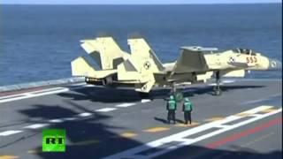 Китай испытал бывший советский авианосец