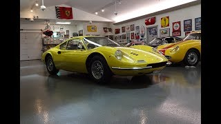 1970 Ferrari Dino 246GT 246 GT L-Series in Yellow & Engine Sound on My Car Story with Lou Costabile