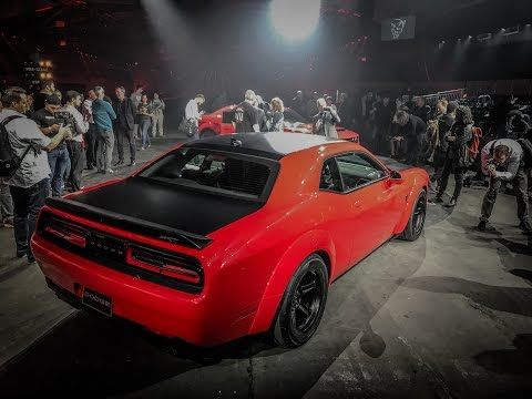 2018 Dodge Challenger Demon reveal live from New York