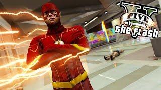 The Flash Stops Metro Terror! (GTA 5 Flash Mod Gameplay)
