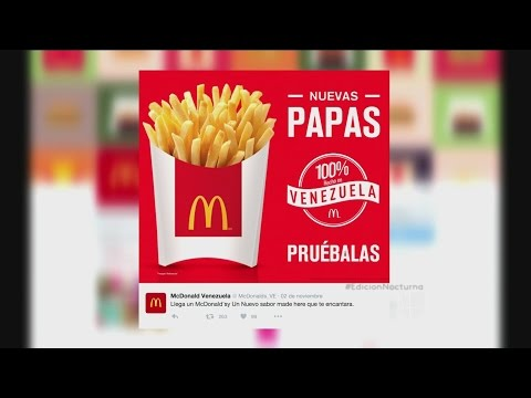 Las papas regresan a Venezuela