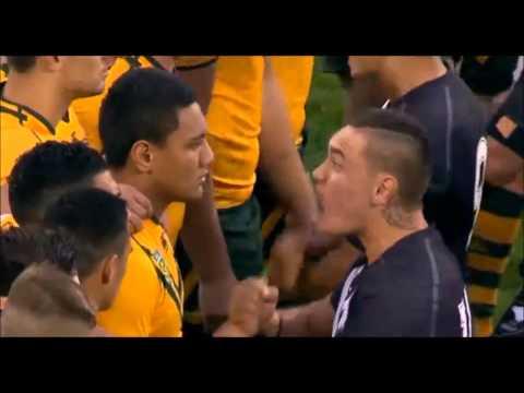 Fiery Haka at Australia & NZ's Under-20s Rugby League 2014