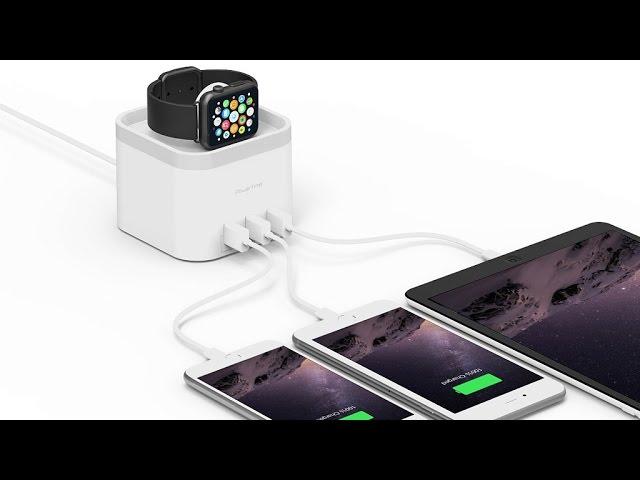 PowerTime // Apple Watch Charging Dock + 3 USB Ports video thumbnail