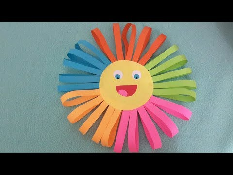Sun Paper Craft || DIY Easy Paper Craft for Kids #5Minutescraft