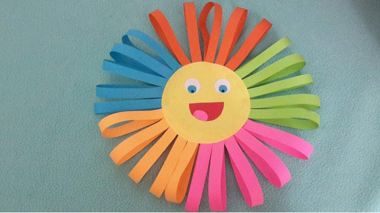 Sun Paper Craft || DIY Easy Paper Craft #colourfullsuncraft #5Minutescraft #1