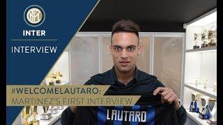 LAUTARO MARTINEZ | First Inter TV Interview | #WelcomeLautaro 🎙️⚫️🔵