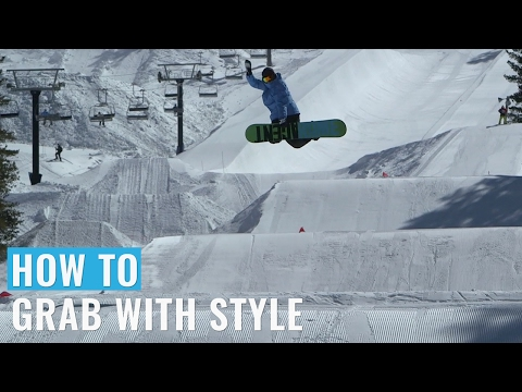 Tramp Board Training: How To Grab With Style On A Snowboard