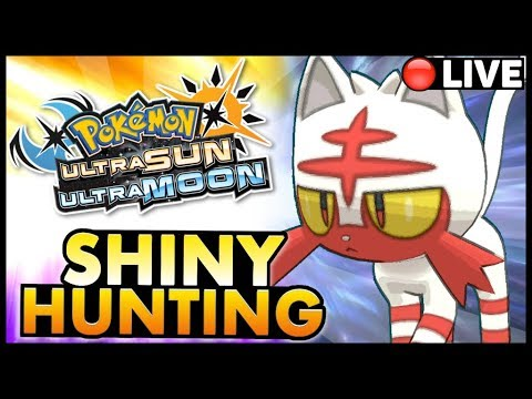 🔴  LIVE  | Pokémon Ultra Sun and Moon Shiny Hunting Litten w/ @AppIeCode