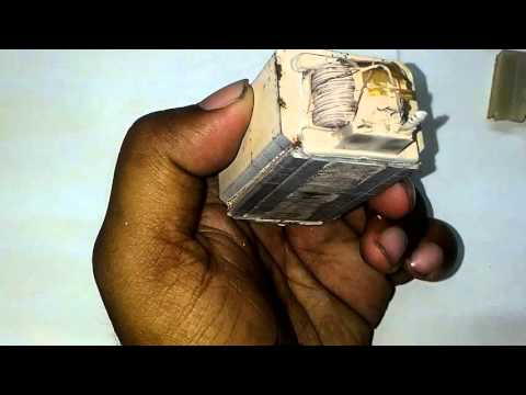 VIDEO-2: What's  inside a magnetic ballast which is used to start tube light