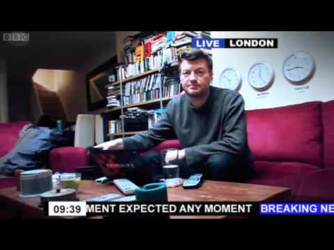 Charlie Brooker of BBC Newswipe on Live reports annoyance