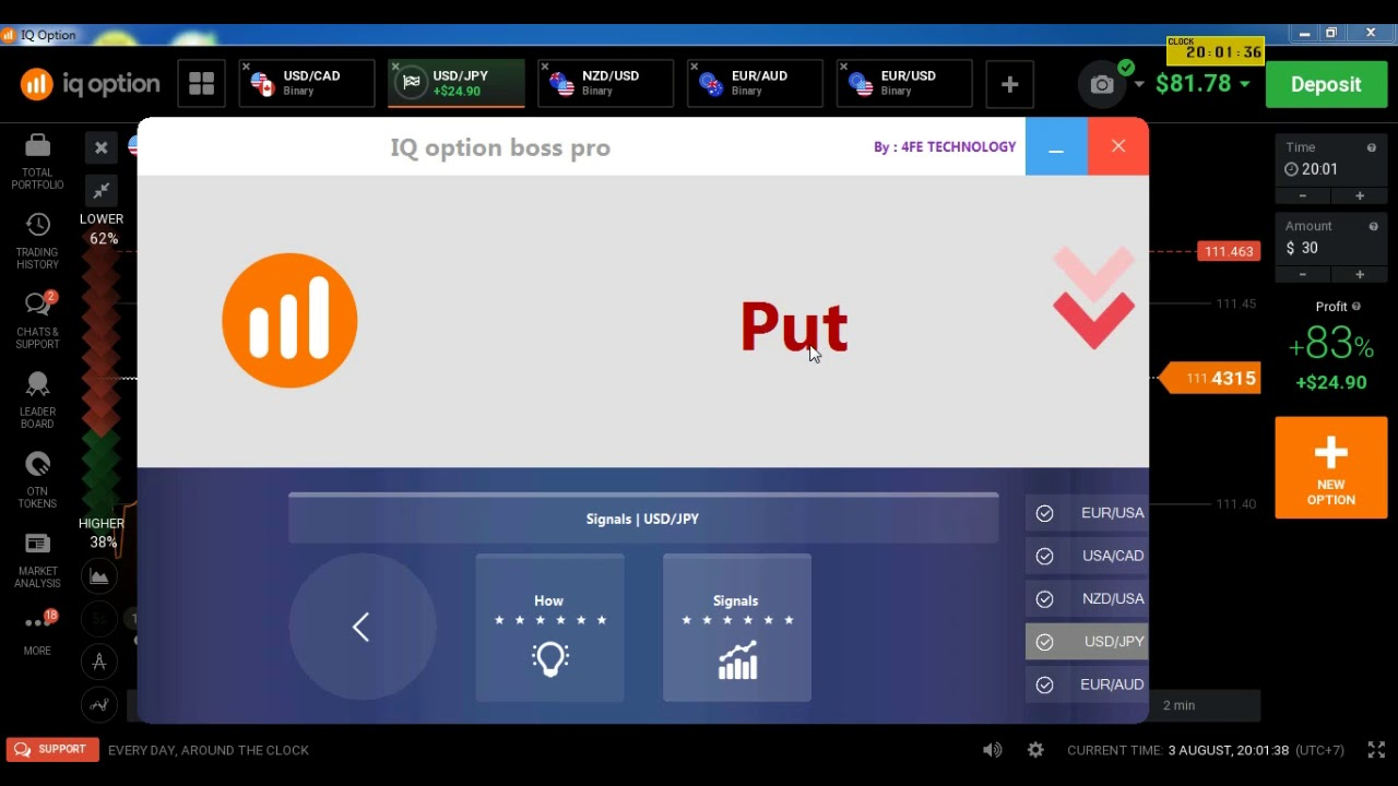IQ OPTION POWER BOSS PRO TRADING SIGNALS