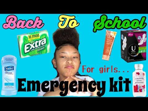BACK TO SCHOOL EMERGENCY🚨 KIT (for girls)