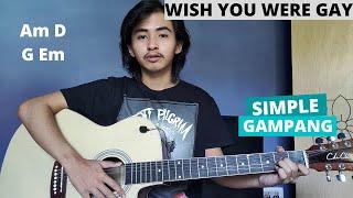 CHORD SIMPLE GAMPANG (Wish You Were Gay - Billie Eilish) (Tutorial Gitar)